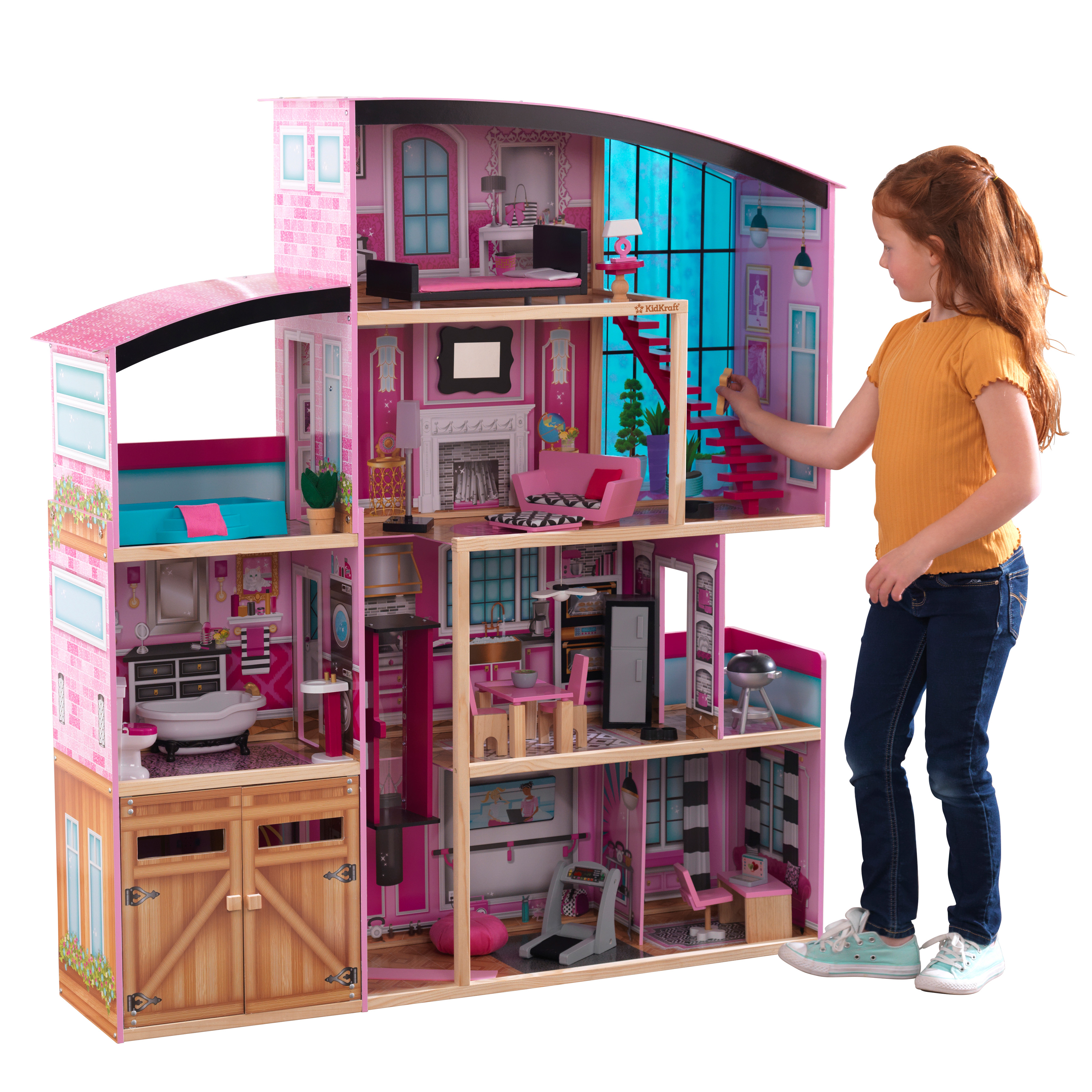 Kidkraft Shimmer Mansion With 30 Accessories Included Walmart Com Walmart Com