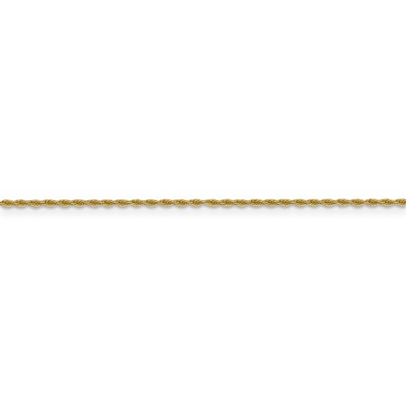 14k Yellow Gold 1.3 Mm Pendant Link Rope Chain Necklace 18 Inch Charm Fine Jewelry For Women Gifts For Her - image 3 of 9