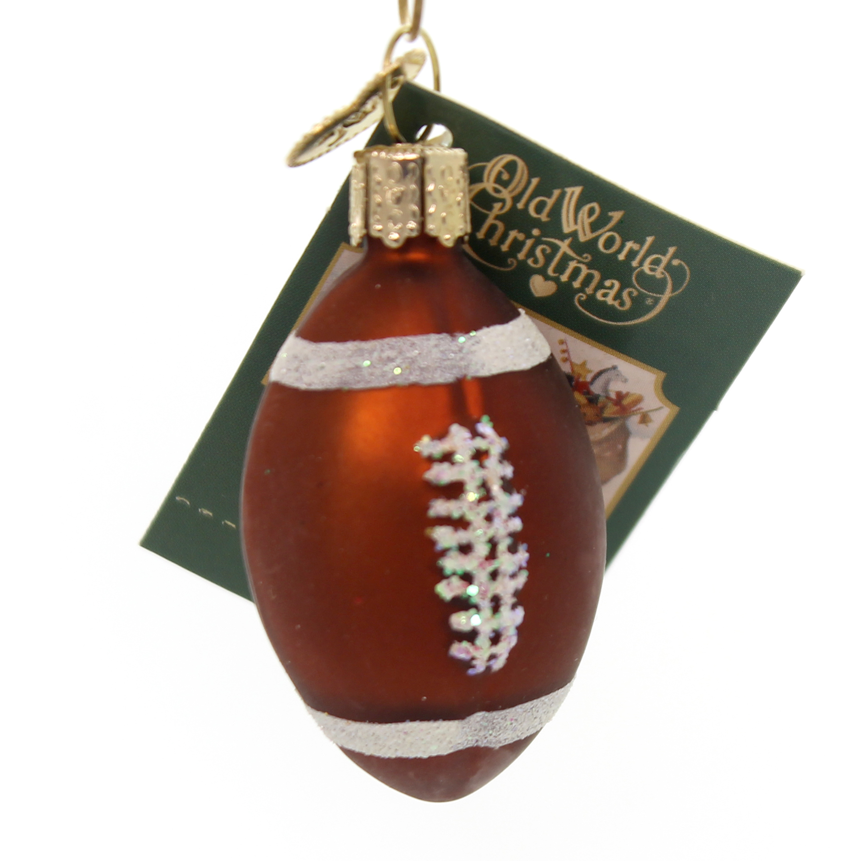 Old World Christmas MINIATURE SPORT BALLS Glass Ornament 44023
