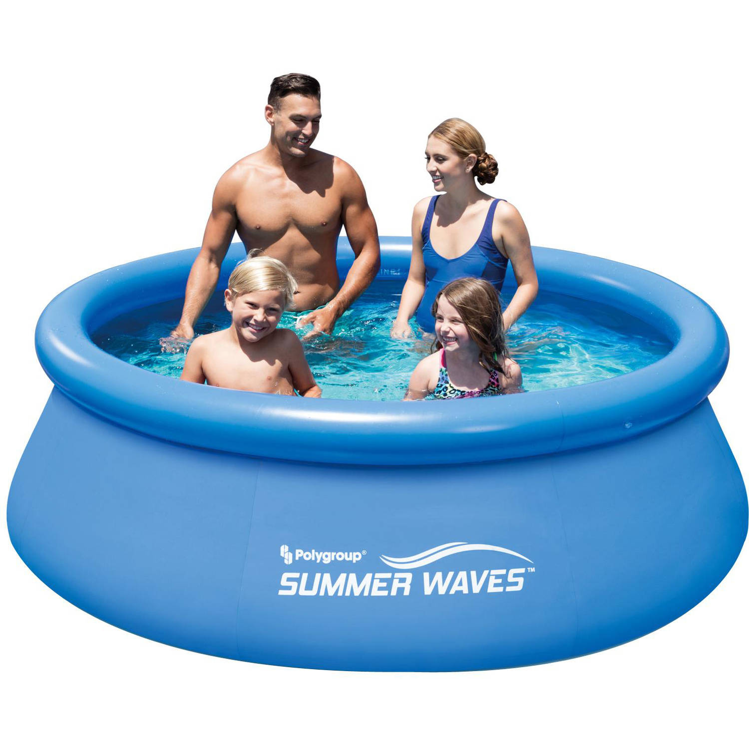 "Summer Waves 8' x 30"" Quick Set Round Above Ground Swimming Pool with Filter Pump System"