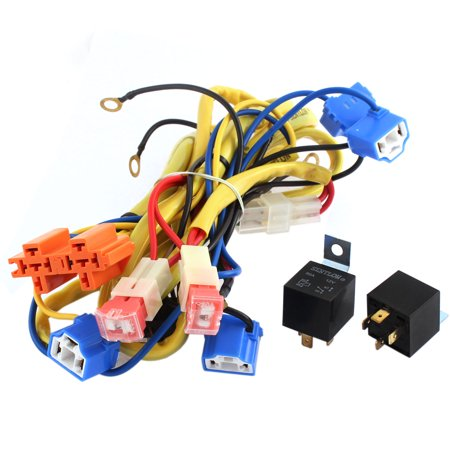 H4 4 Bulbs Headlamp Fog Light Cable Relay Kit DC 12V 90W 80A for Car  X V Relay Wiring Diagram on basic relay diagram, relay circuit diagram, relay switch diagram, 12 volt relay diagram, air compressor wiring diagram, bosch 12v relay diagram, float switch wiring diagram, starter wiring diagram, capacitor wiring diagram, 12v wiring basics, 12 volt rv wiring diagram, 12v power wheels wiring-diagram, 12v power relay diagram, ignition switch wiring diagram, cube relay socket diagram, 24v relay diagram, 12 volt switch diagram, 12 volt solenoid wiring diagram, 12v relay pinout, how does a relay work diagram,