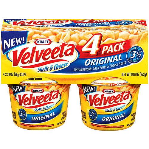 Kraft Original Velveeta Shells & Cheese, 4ct