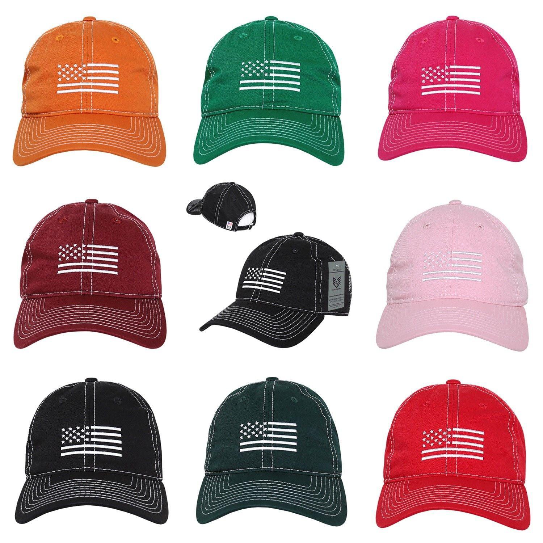 US American Tonal Flag USA United States of America Cotton Polo Baseball Hat Cap-Black