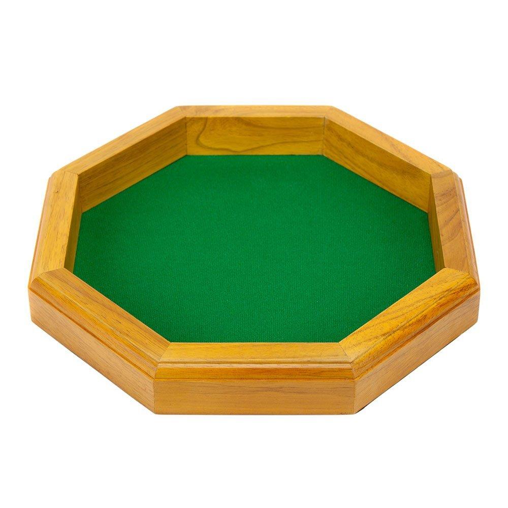 Wiz Dice 12-inch Wooden Octagonal Dice Tray
