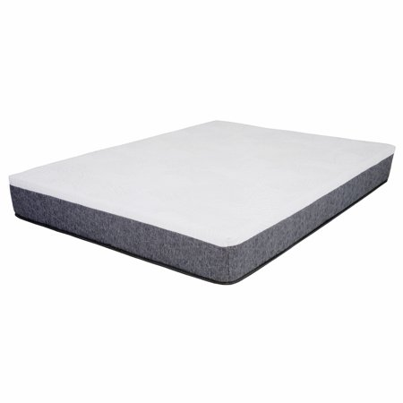 12 Quot Twin White Amp Gray Gel Memory Foam Mattress Walmart Com