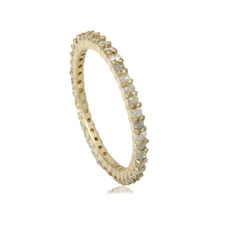 1ct Rough Gray Diamond Eternity Ring 14K Yellow Gold