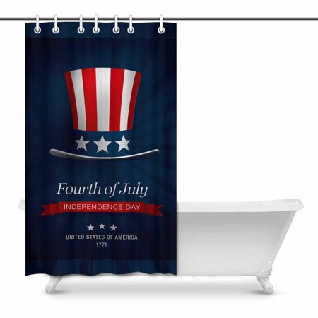 POP Independence Day of the USA 4th July Water, Soap, Shower Curtain 48x72 inch - image 1 of 1