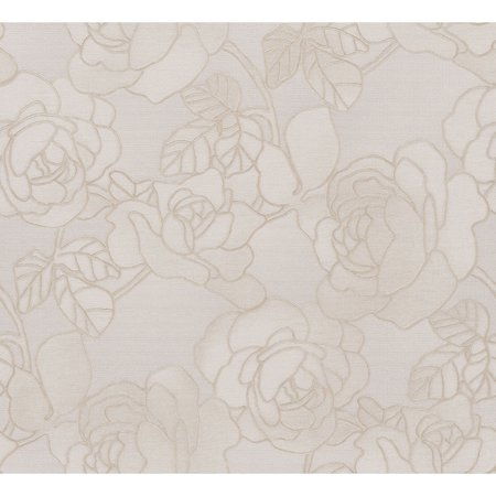 - Beacon House Sancia Linen Rosette Weave Wallpaper