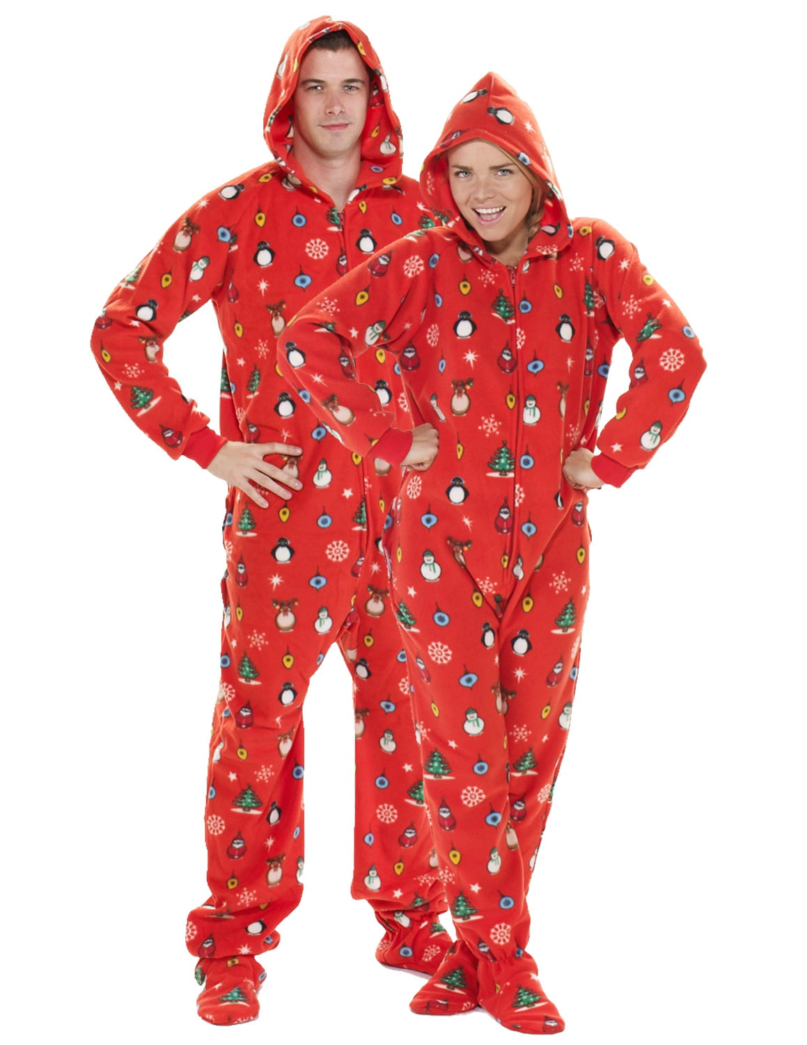 Christmas Pajama Onesies.Footed Pajamas Holly Jolly Christmas Adult Hoodie Drop Seat