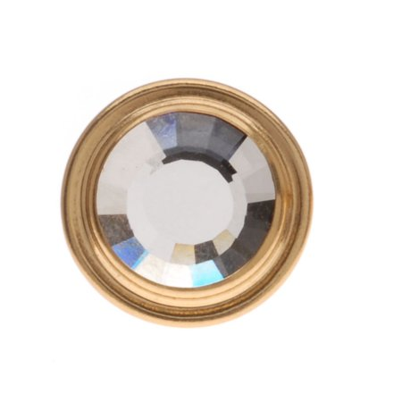 SWAROVSKI ELEMENTS Gold Plated Faceted Crystal Jean Button 14mm (1