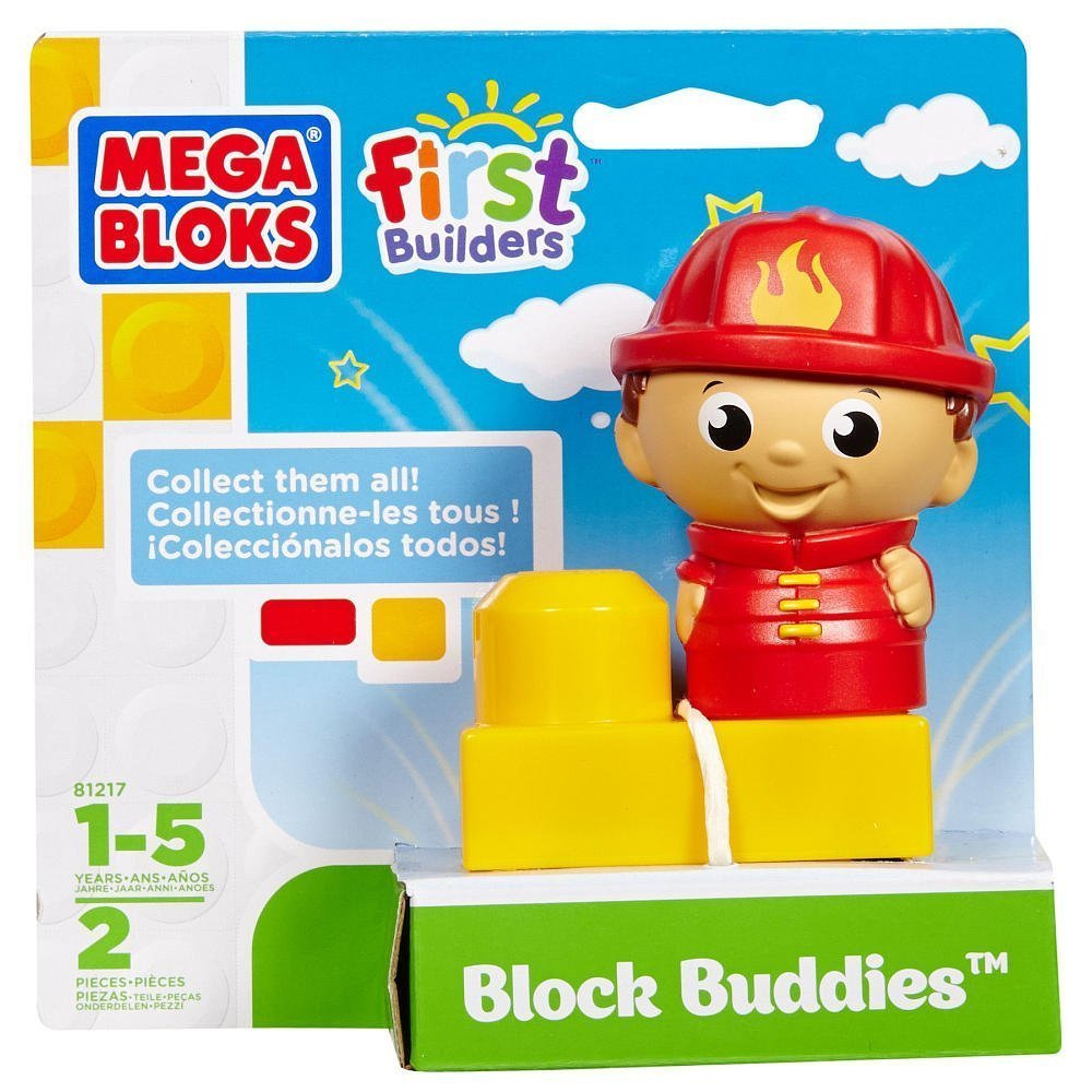 Block Buddies Semi Blind Packs - Lil Fireman by Mega Bloks, By Mega Brands