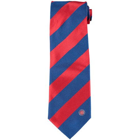 Chicago Cubs Regiment Woven Silk Tie - No -