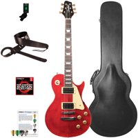 Sawtooth Heritage Series Flame Maple Top Electric Guitar with ChromaCast Pro Series LP Body Style Hard Case and Accessories
