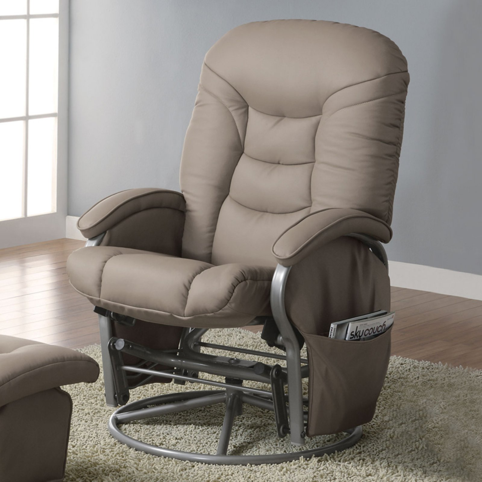 Coaster Smooth Glider and Ottoman with Padded Seat by Coaster Company