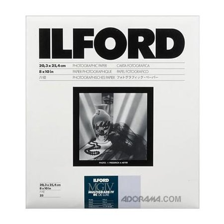 Ilford Multigrade IV RC Deluxe Black & White Enlarging Paper - 8x10