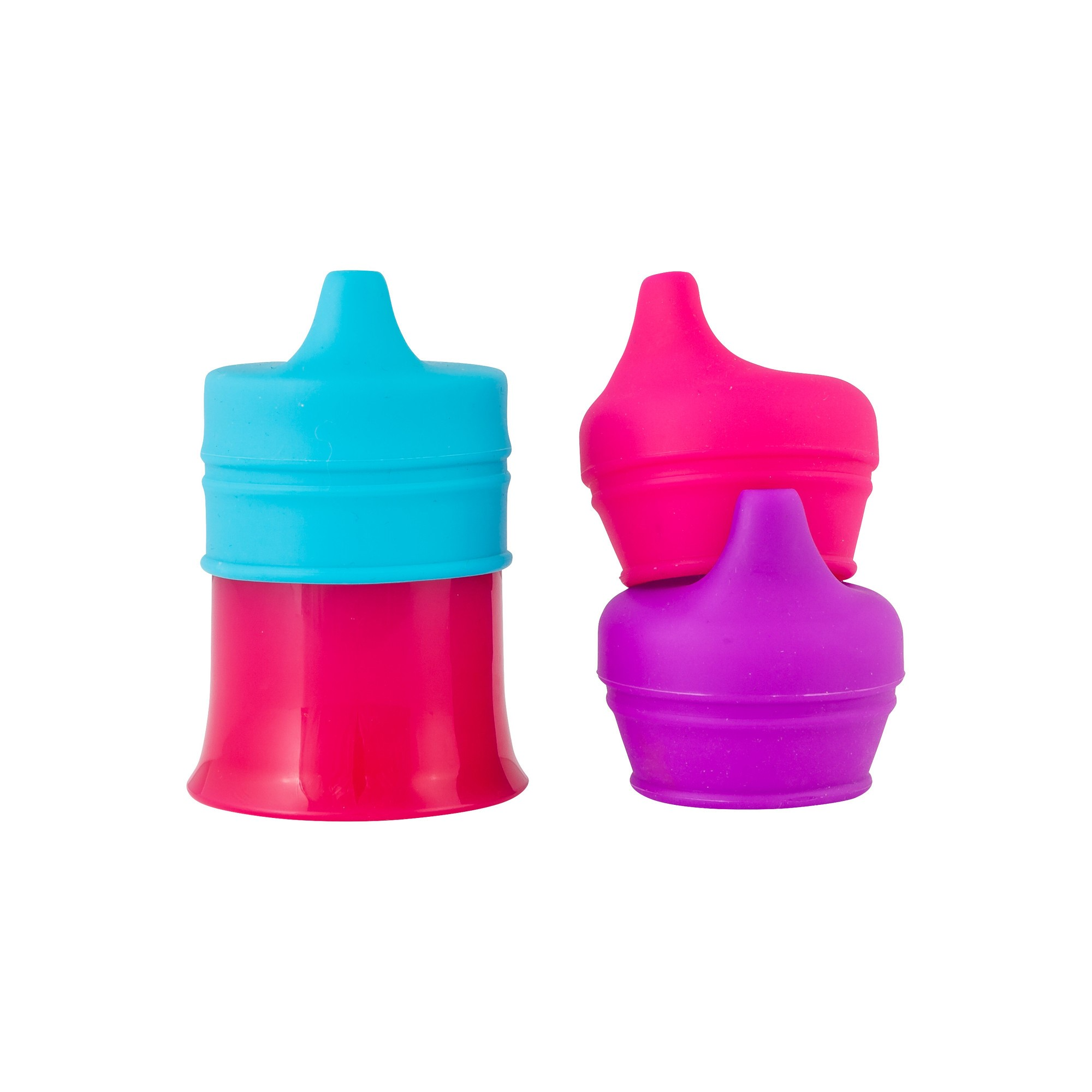 BOON Snug Spout with Cup - Pink/Purple/Blue