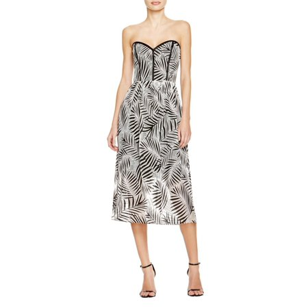 Parker Womens Printed Strapless Casual Dress B/W - Halloween Parker Co Events