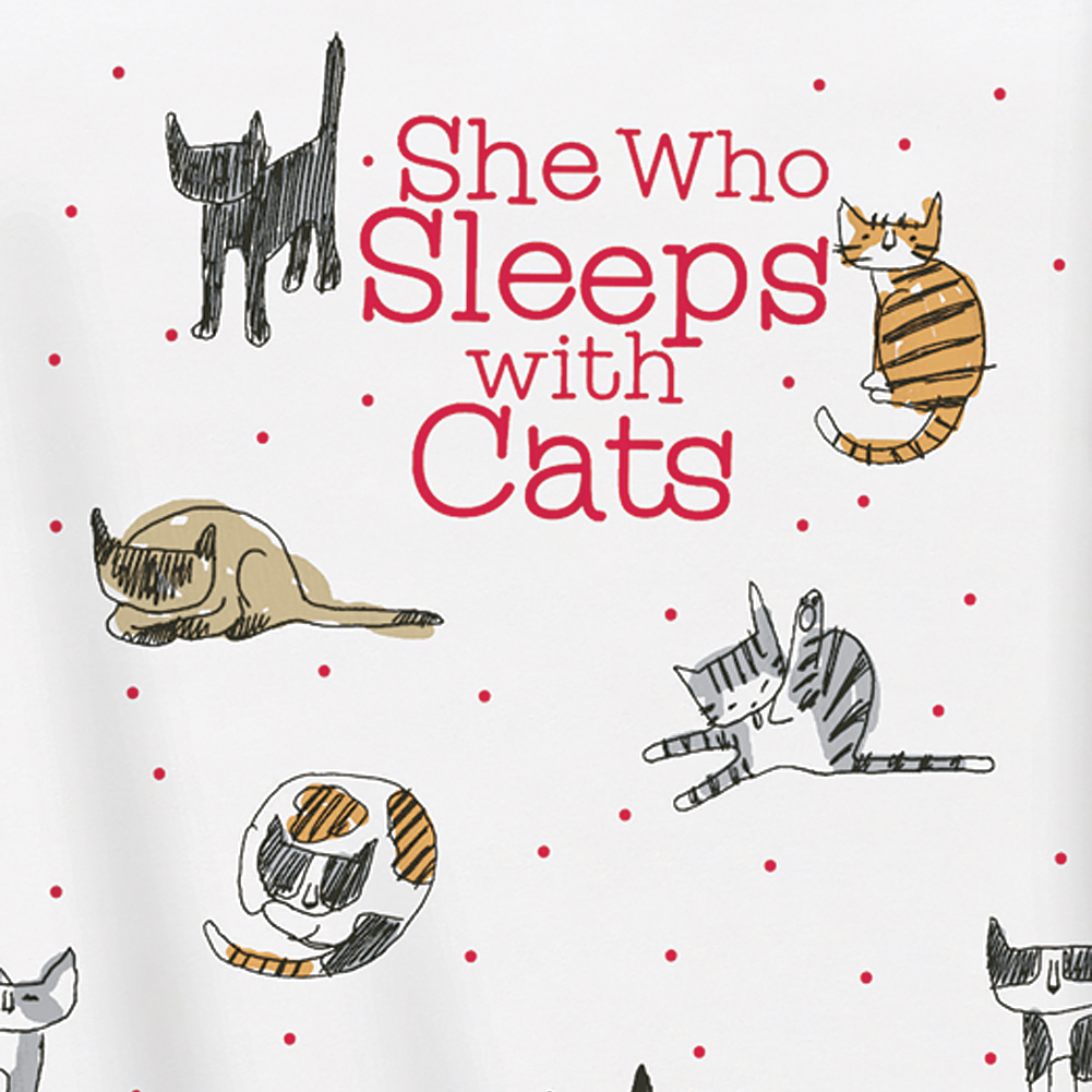 She Who Sleeps with Cats Nightshirt d0923ddc2