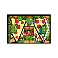TMNT Cartoon TV Series Pizza & Turtles Dog Cat Pet Place Mat