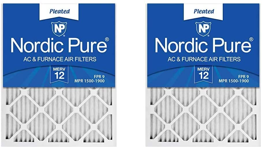 Nordic Pure 14x25x1 MERV 12 Pleated AC Furnace Air Filters 4 Pack