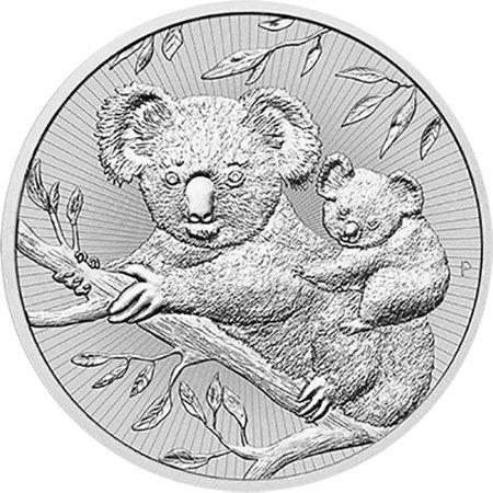 2018 Perth Mint Silver Koala 2 oz Silver Coin Next Generation Series 1864 2 Cent Coin