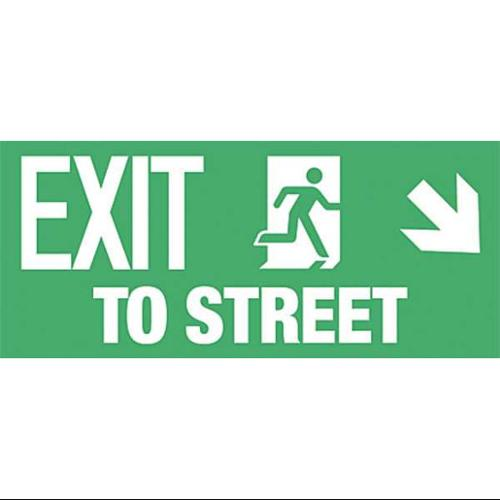 ADDLIGHT 40.25 Exit Sign,8 x 18In,WHT/GRN,Exit To ST