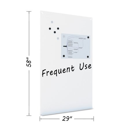 MasterVision Magnetic Dry Erase Tile Board, 38 1/2 x 58, White Surface