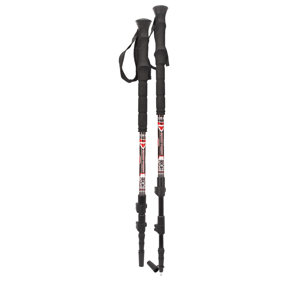 The Amazing Quality Yukon Charlie's Carbon Lite Trekking & Snowshoe Pole Red by
