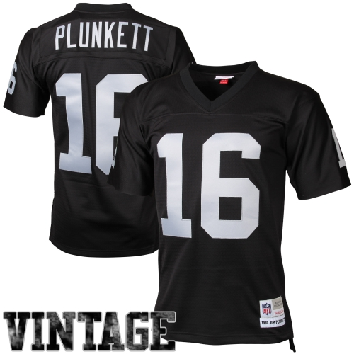 Jim Plunkett Oakland Raiders Mitchell & Ness Retired Player Vintage Replica Jersey - Black