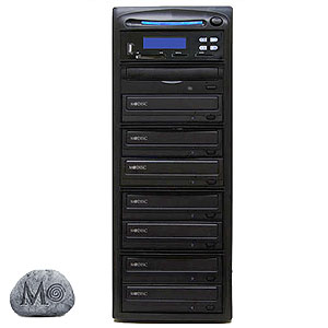 SySTOR 1:7 M-Disc Support CD DVD Duplicator + USB/SD/CF to Disc Backup Copier Tower