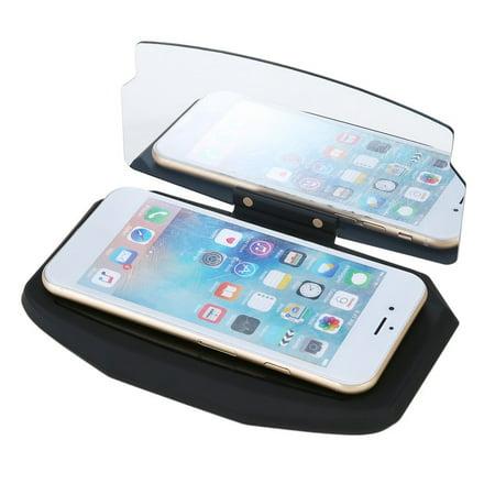 Black Car Hud Mobile Phone Gps Navigation Image Reflector Phone Gps Car Holder Stand
