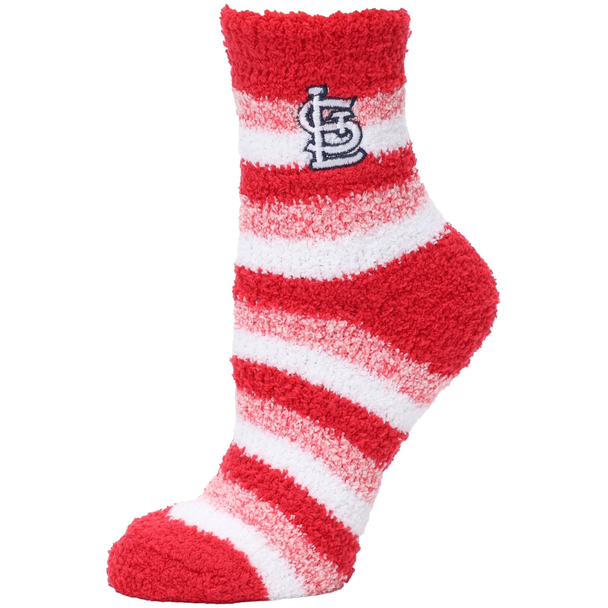 St. Louis Cardinals Women's Fuzzy Steps Quarter-Length Socks - M