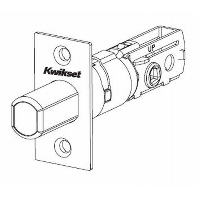 Kwikset 81308-3 Adjustable Square Deadbolt Latch Bright Brass Finish