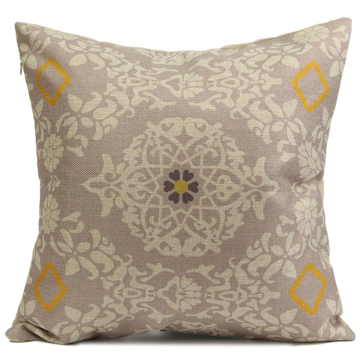 Retro Yellow Flower Flower Throw Pillow Cases Cushion