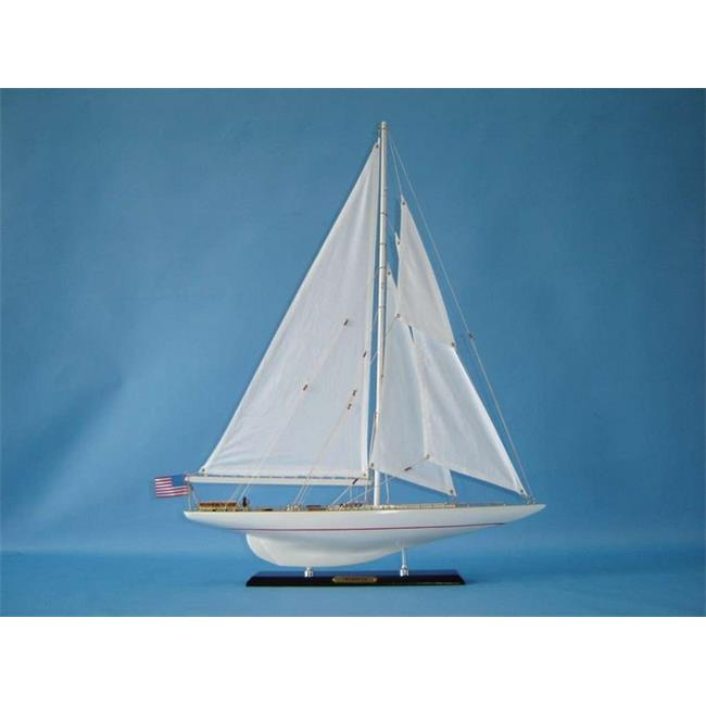 Handcrafted Decor Intrepid 27 Wooden Intrepid Limited Model Sailboat Decoration, 27 in. by Handcrafted Decor