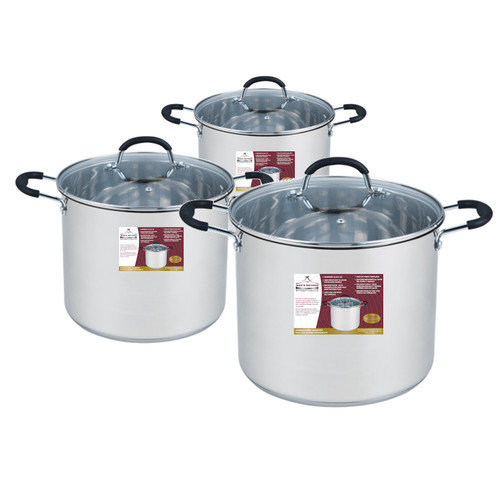 Wee's Beyond 3 Piece Stock Pot Set with Lid