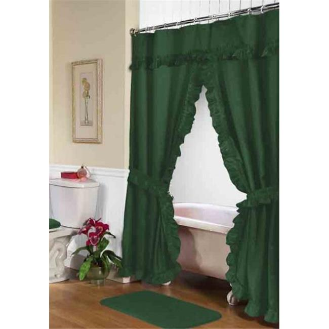 FSCD L 27 34 X 54 In Lauren Double Swag Shower Curtain Evergreen