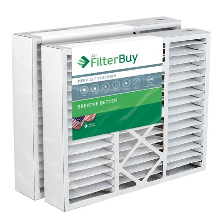Bryant Carrier Furnace (20x25x5 Carrier Replacement AC Furnace Air Filters - AFB Platinum MERV 13 - Pack of 2 Filters. Designed to fit)