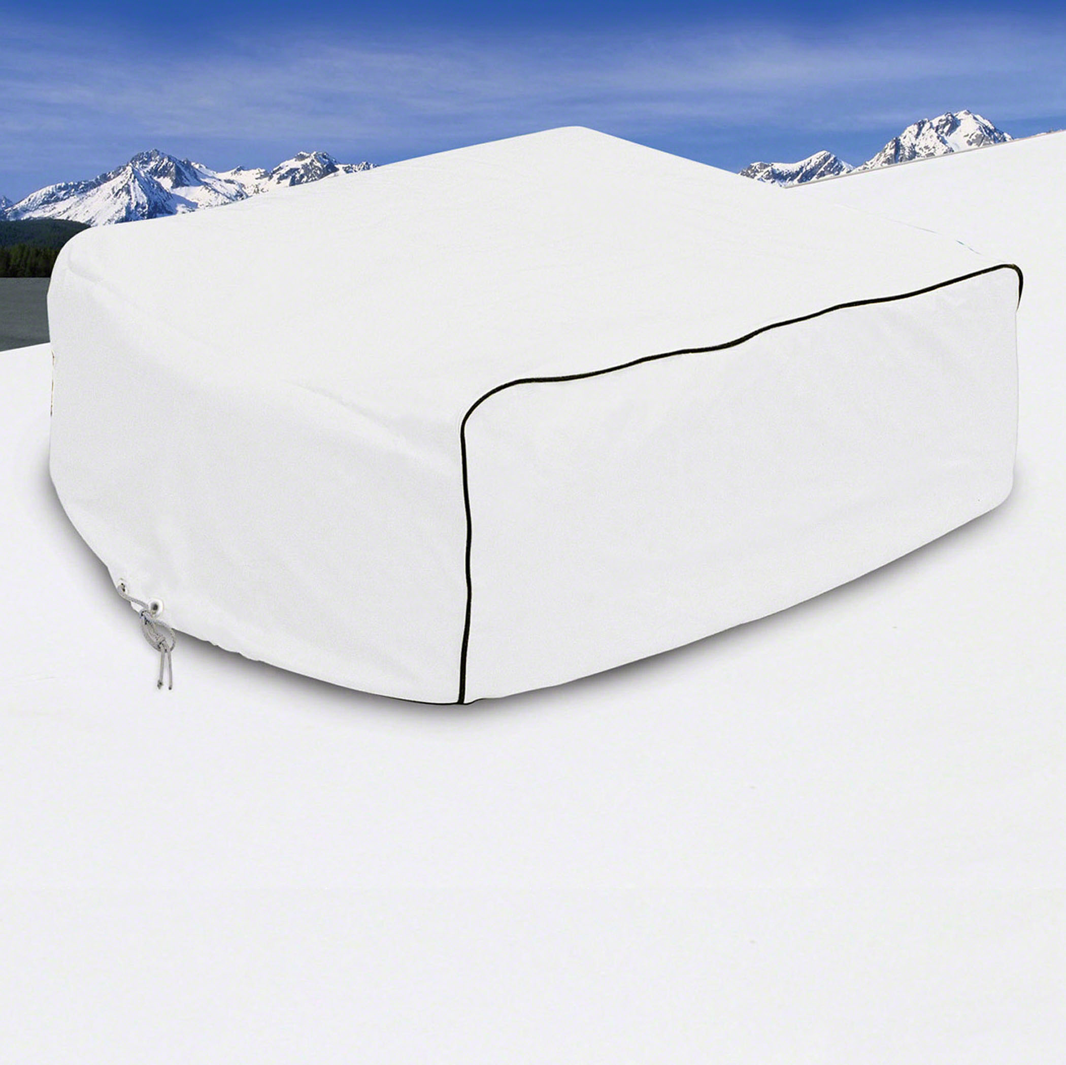 Classic Accessories OverDrive RV Air Conditioner Cover, Fits Duo-Therm Briskair and Quick Cool, White