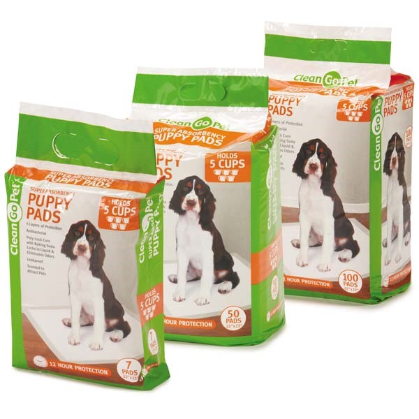 Clean Go Pet Super Absorbency Puppy Pads, 100 Ct