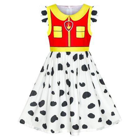 Girls Dress Paw Patrol Marshall Costume Halloween Party 3 Years](Halloween Costume Green Dress)