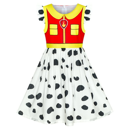 Girls Dress Paw Patrol Marshall Costume Halloween Party 3 Years - White Dress For Halloween Costume
