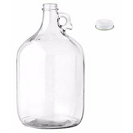 home brew ohio glass water bottle includes 38 mm metal screw cap, 1 gallon