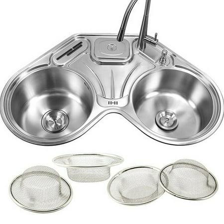 AkoaDa Kitchen Sink Drain Strainer Metal Wire Mesh Basket Food Filter  Catcher Net 6L
