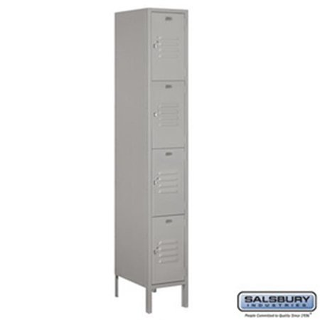 Salsbury Industries 3715S 1CZR Rear Access Single Column 15 Door High Unit 55 in 4C Horizontal Collection Box Bronze