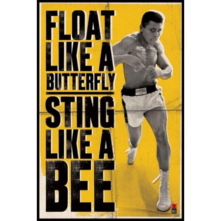Muhammad Ali Float Like a Butterfly Poster Print (24 x (Muhammad Ali Poem Float Like A Butterfly)