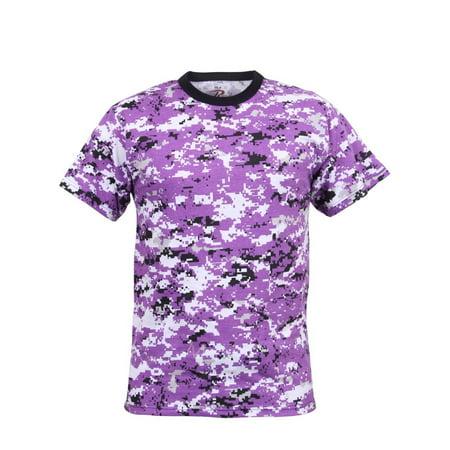 Rothco Digital Camo Camouflage Poly Cotton T-Shirt, Ultra - Army Digital Camo T-shirt