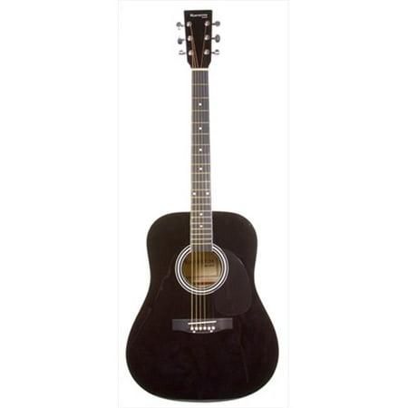Huntington GA41-BK 41 in. Handcrafted Steel String Acoustic Guitar in Black
