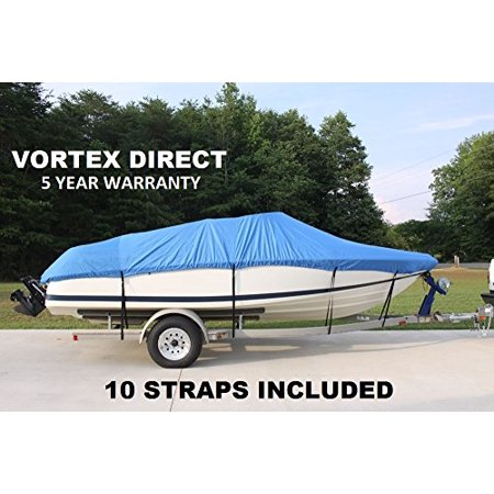 VORTEX HEAVY DUTY VHULL FISH SKI RUNABOUT COVER FOR 17 18 19' BOAT, BEST AVAILABLE COVER (Best Fish And Ski Boats)