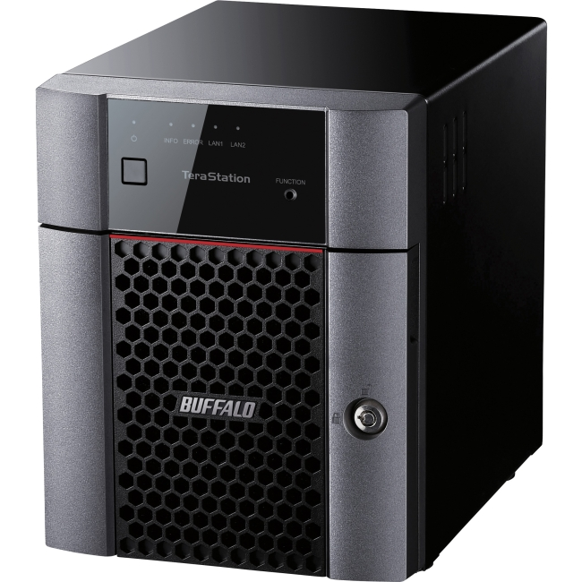 Buffalo 4-bay Business NAS - Annapurna Labs Alpine AL-212 Dual-core (2 Core) 1.40 GHz - 4 x Total Bays - 16 TB HDD - 1 GB RAM DDR3 SDRAM - Serial ATA/600 - RAID Supported 0, 1, 5, 6, 10, JBOD - Gigabi